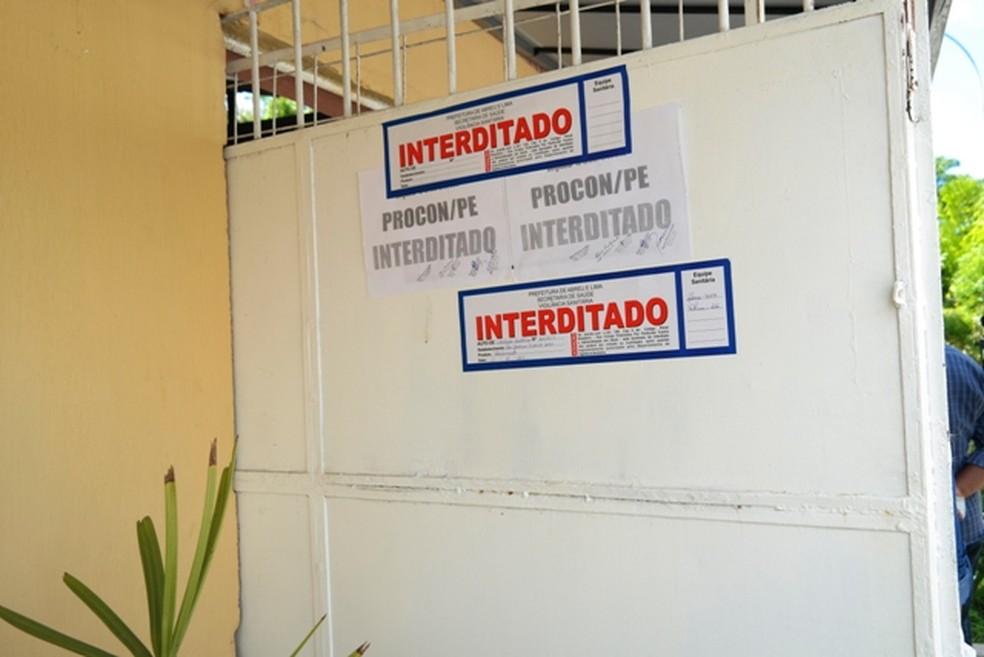Asilos para idosos foram interditados no Grande Recife (Foto: Divulgação/SEDH)