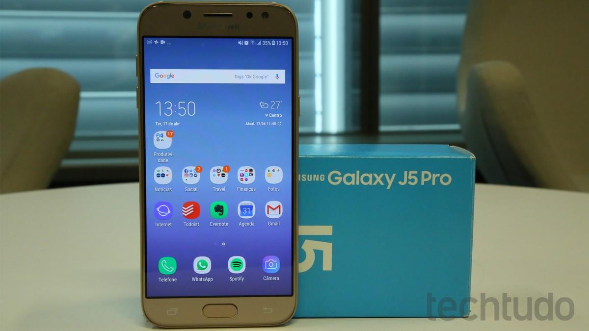 05837ca7e Saiba se vale a pena comprar Galaxy J5 Pro  conheça preço e ficha técnica