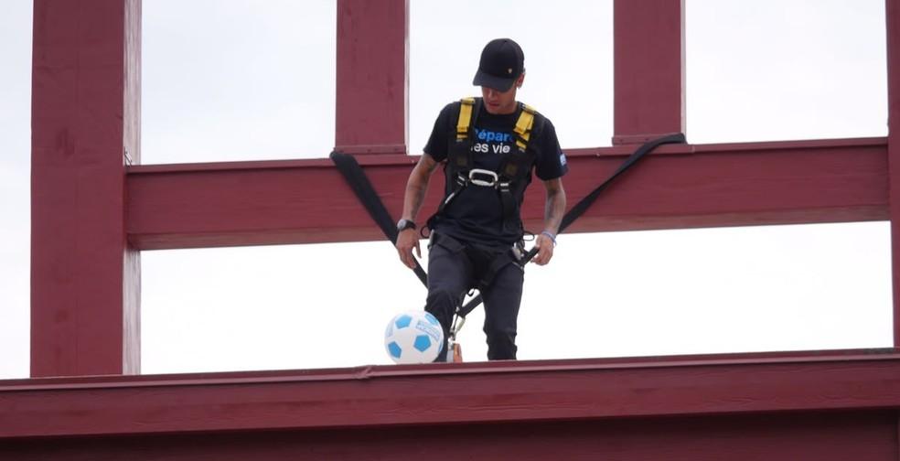 Neymar é o novo embaixador da ONG Handicap International em Genebra (Foto: Gil Araujo)