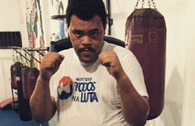 Babu Santana iniciou no ano passado uma preparação para viver o ex-pugilista Maguila no cinema. O projeto é uma parceria dele com o produtor Josmar Bueno Júnior (Foto: Arquivo pessoal)