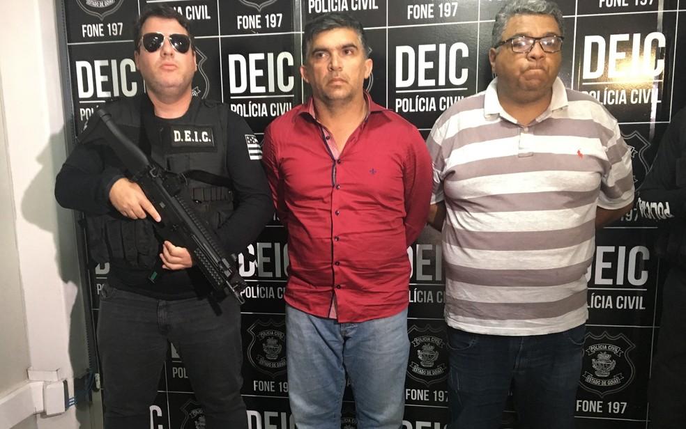 Dois homens são suspeitos de tentar aplicar golpe de R$ 6 milhões usando nome de ex-ministro em Goiânia (Foto: Paula Resende/G1)