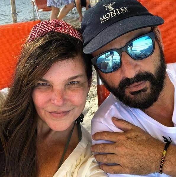 Cristiana Oliveira e o namorado, Sergio (Foto: Reprodução / Instagram)