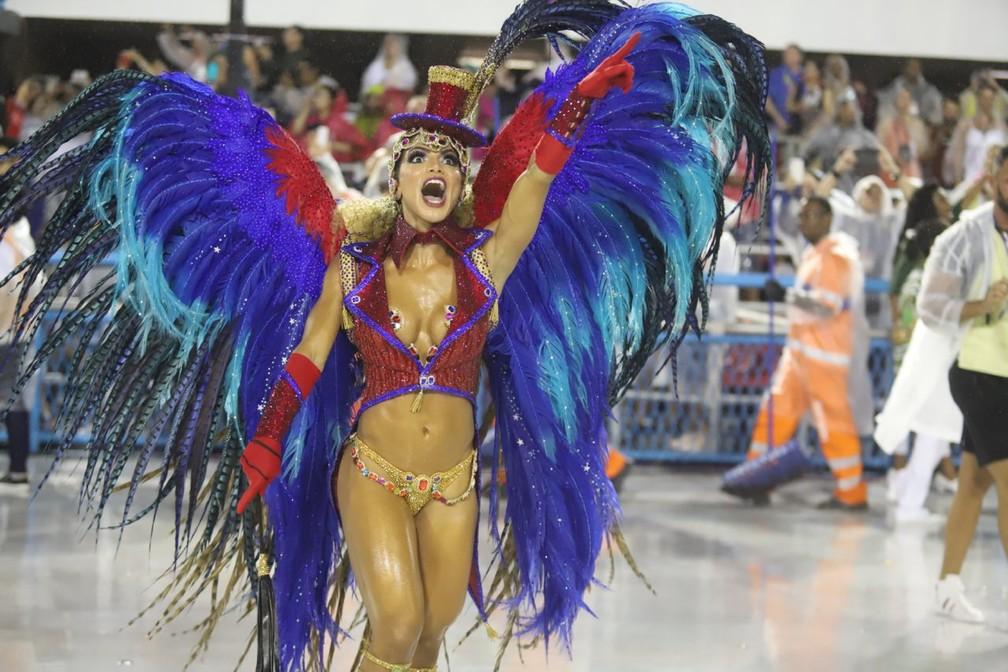 Elaine Babo, musa do carnaval da Império Serrano — Foto: Daniel Pinheiro/AgNews