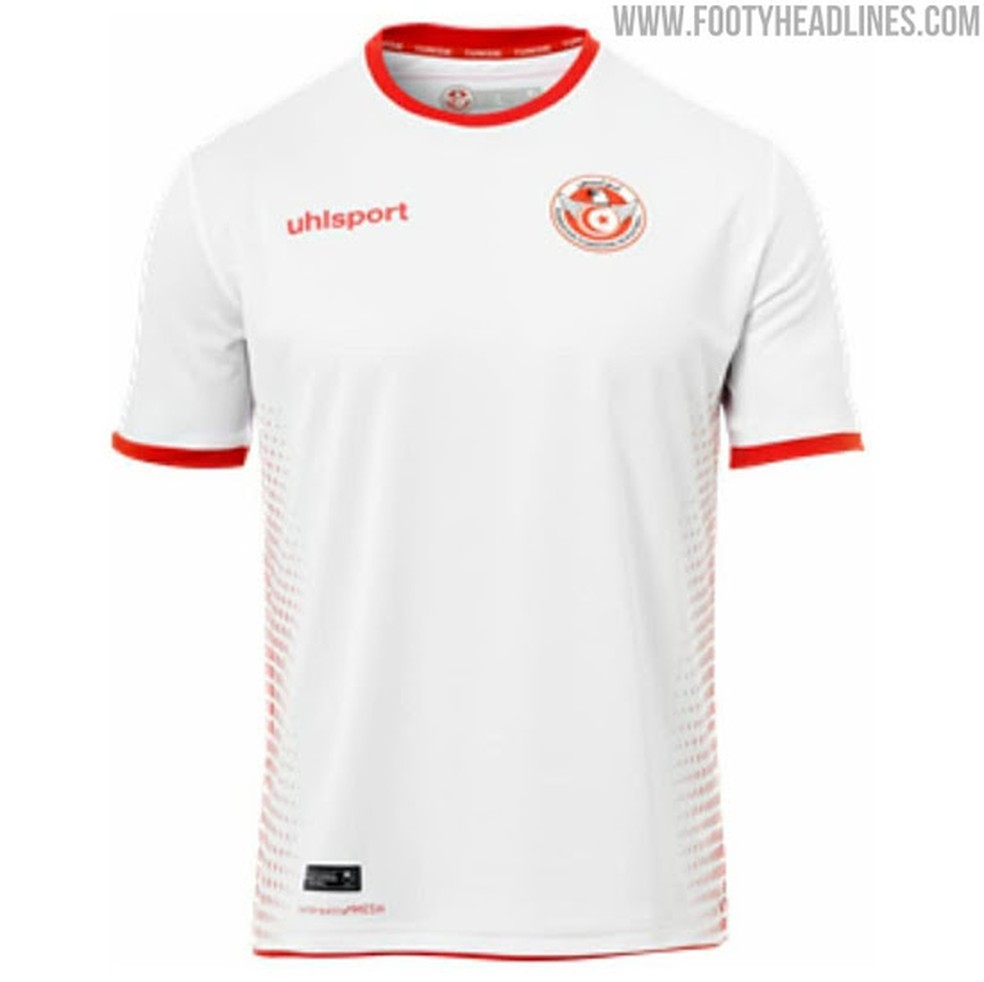 d36b310a64 Camisa da Túnisia para a Copa do Mundo (Foto  Reprodução   Footy Headlines)