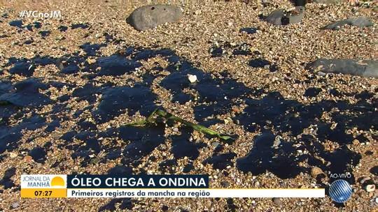 Manchas de óleo chegam às praias do Rio Vermelho e de Ondina, em Salvador