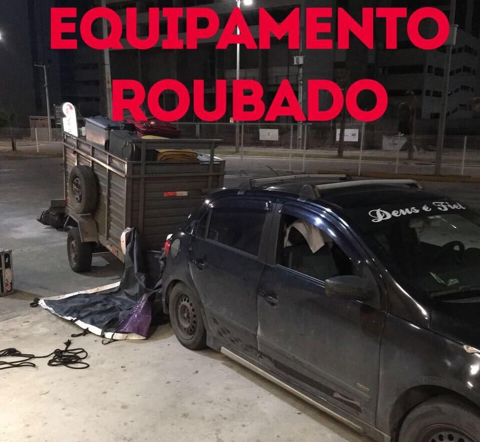 Carro que transportava equipamento de show de Caetano Veloso é roubado (Foto: Produção/Caetano Veloso)