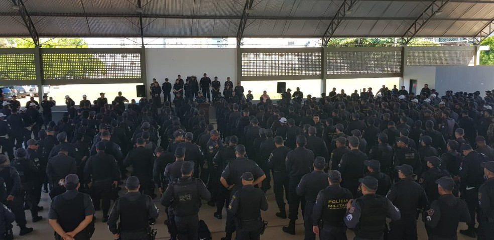 Policiais Militares do RN são distribuídos pelo interior do RN para reforças segurança durante as eleições 2018 — Foto: PM/Divulgação