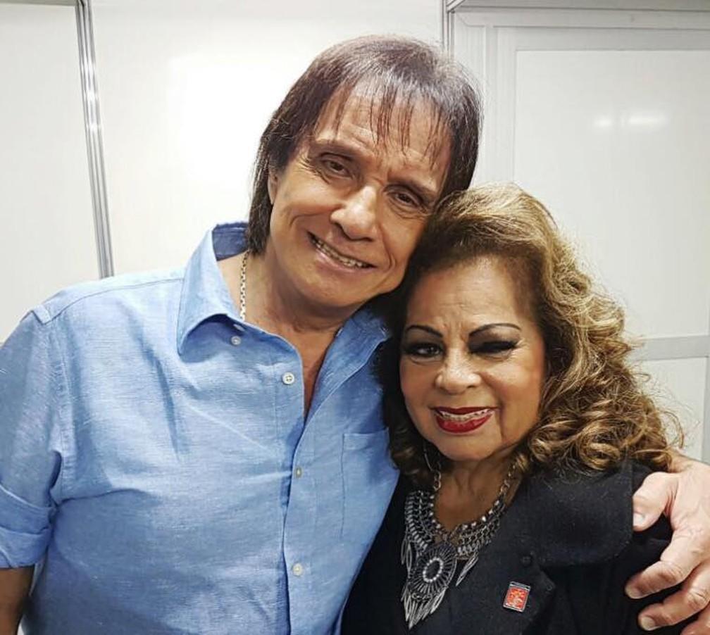 A cantora Angela Maria e Roberto Carlos â?? Foto: Reprodução / Facebook