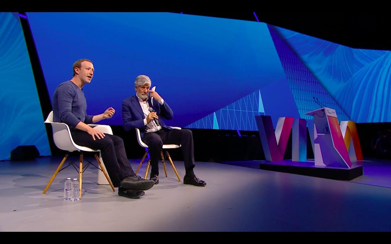 Mark Zuckerberg é entrevistado por Maurice Lévy, um dos idealizadores do Viva Tech (Foto: Divulgação)
