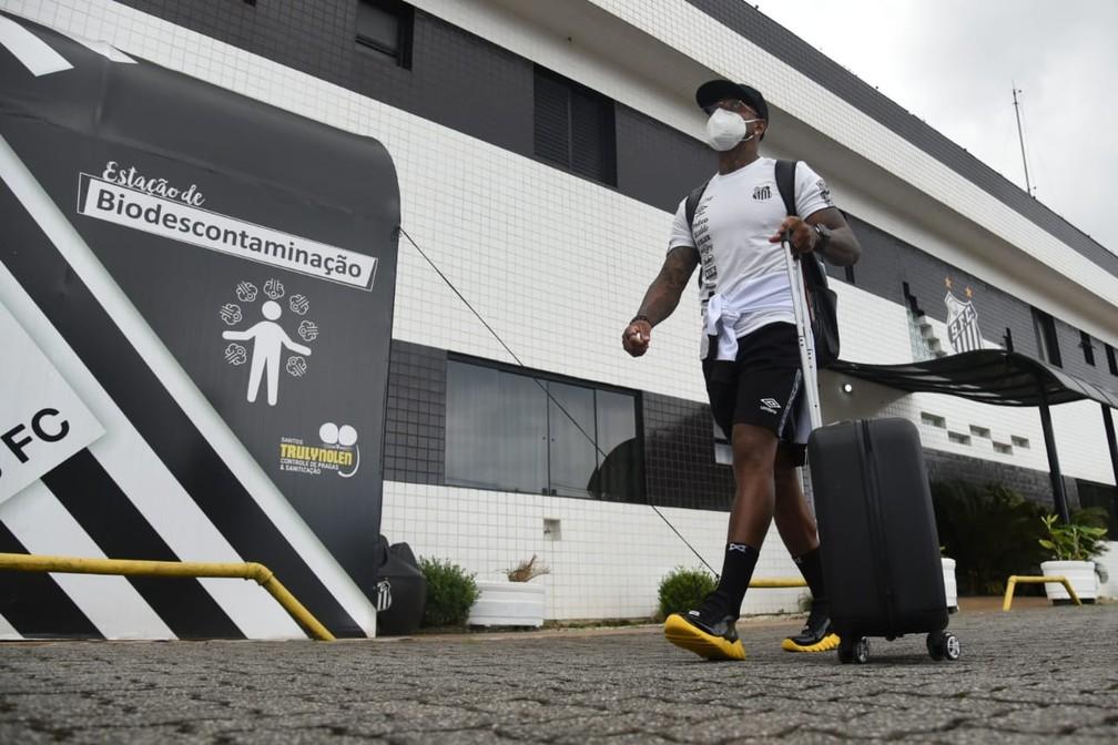 Marinho fará sua primeira partida na atual temporada — Foto: Ivan Storti / Santos FC