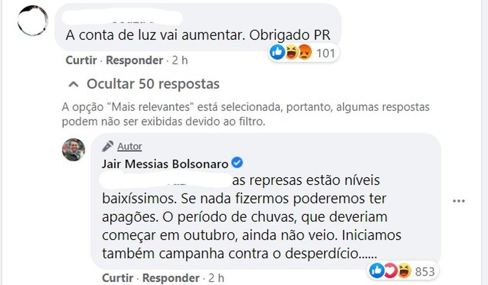 — Foto: Reprodução/Facebook/@jairmessias.bolsonaro