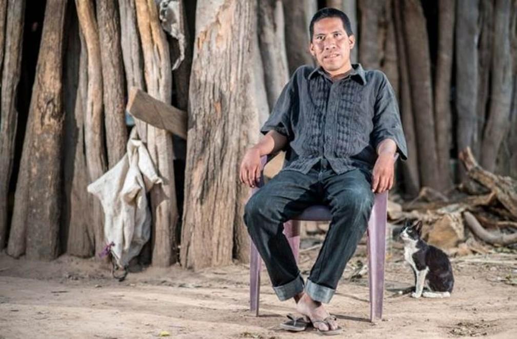 Chagabi Etacore era um líder 'resoluto e determinado', ainda que 'reservado' — Foto: Gerald Henzinger/Survival International/via BBC