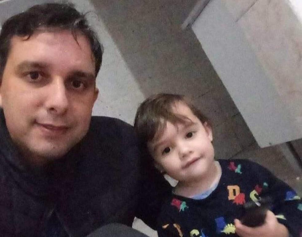 Gael e o pai, Felipe Nunes — Foto: Arquivo pessoal/Veronica Nunes