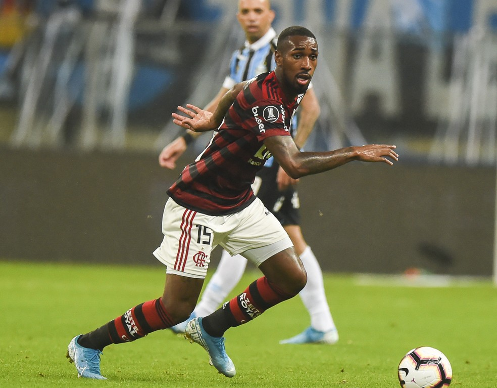 Gerson tem jogado como segundo volante no Fla e marcou um gol — Foto: Vinicius Costa/BP Filmes.