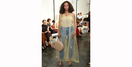 Solange Knowles no desfile da Creatures of Comfort