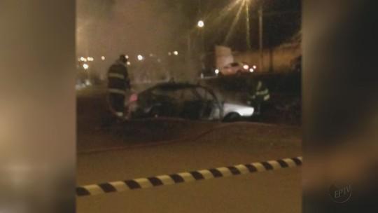 Motorista embriagado atropela menina e tem carro incendiado em Porto Ferreira, SP