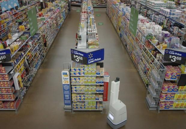 Robô da Bossa Nova. A tarefa dele é escanear os corredores à procura de erros (Foto: Divulgação/Walmart)