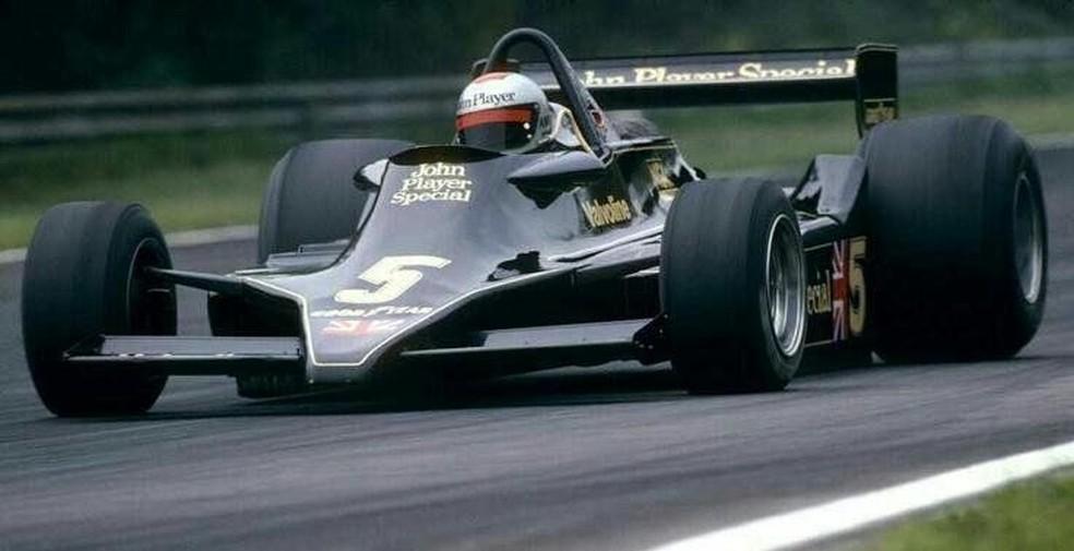 Lendária Lotus 79 estreou no GP da Bélgica de 1978, com Mario Andretti — Foto: Reprodução