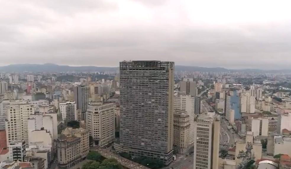 Mirante do Vale, no centro da capital paulista, foi o mais alto do país por quase 50 anos — Foto: Reprodução/TV Globo