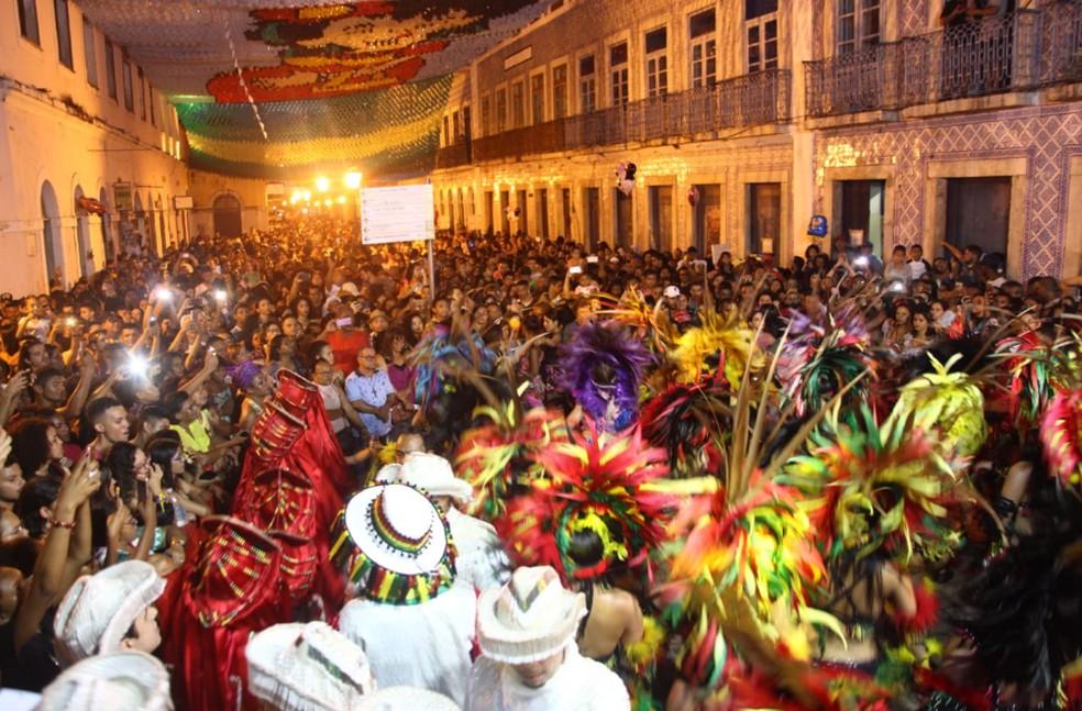 Centro Histórico de São Luís fica movimentado durante prévia de São João  — Foto: Divulgação/ Secap