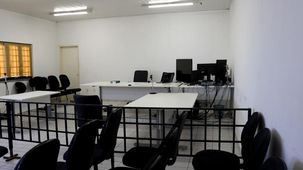 Primeiro Tribunal do Júri por videoconferência do Piauí — Foto: Maria Romero/G1 PI