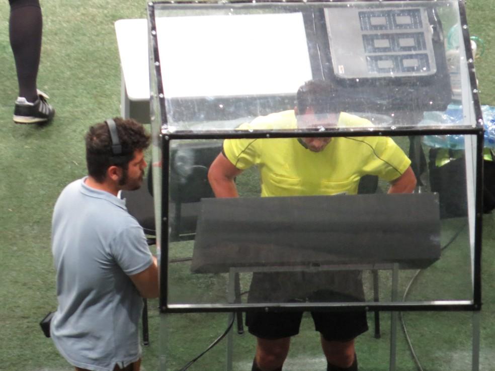 Bahia teve dois gols anulados na partida — Foto: Fernando Freire