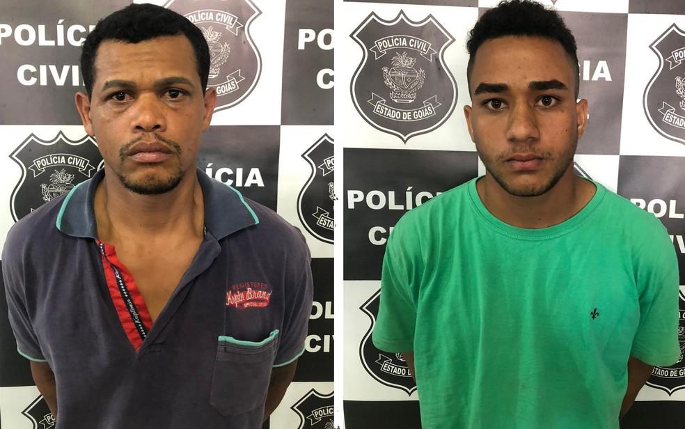 Reginaldo Lima, padrasto do menino, e Hian Alves, colega e suspeito de auxiliar na morte, em Goiânia, Goiás — Foto: Divulgação/Polícia Civil de Goiás