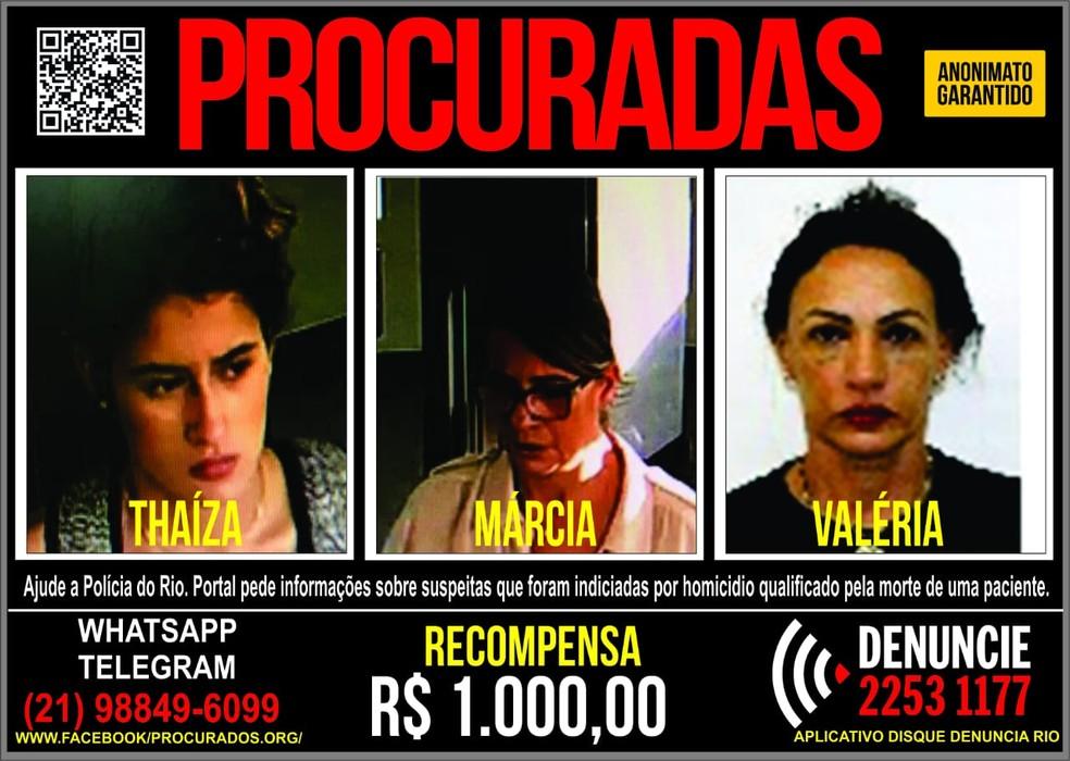 Cartaz pede informações sobre suspeitas da morte de Mayara Santos (Foto: Reprodução/ Portal dos Procurados)