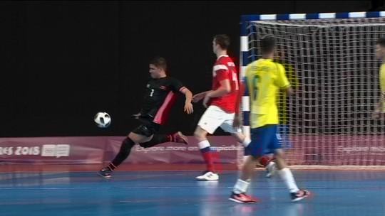 Com direito a golaço na final, goleiro potiguar é campeão olímpico de futsal
