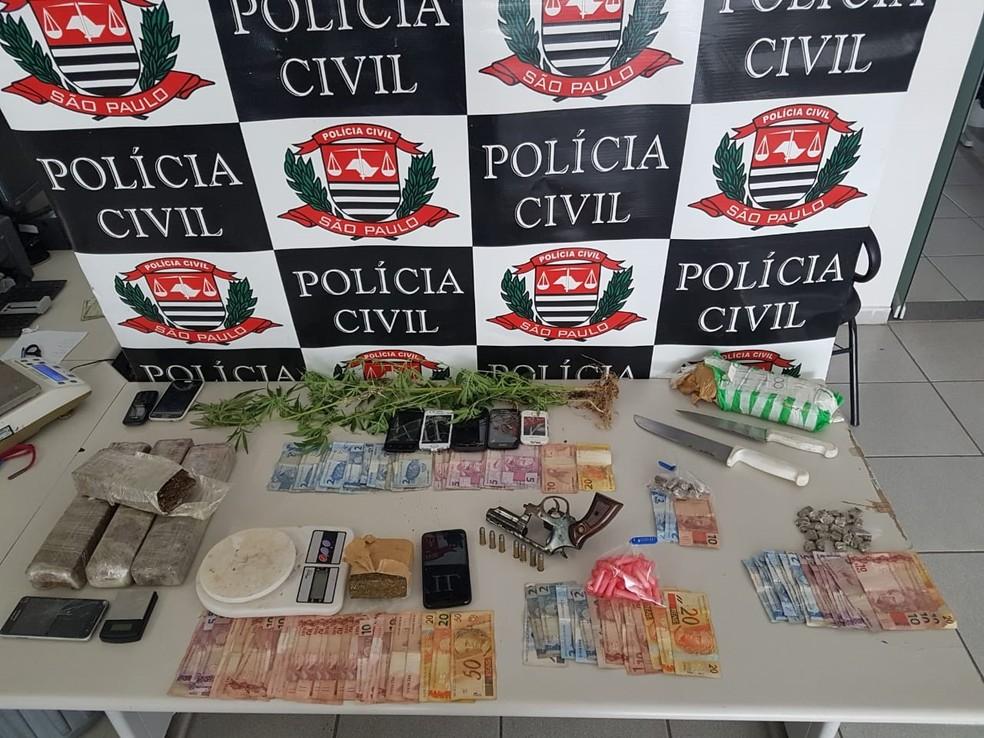 Drogas foram apreendidas em ação da polícia (Foto: Divulgação/Polícia Civil)