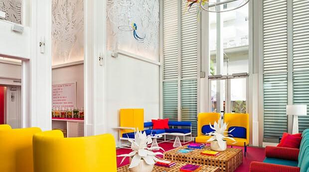 Hotel quer bombar no Instagram com cores e peças inovadoras (Foto: Divulgação)