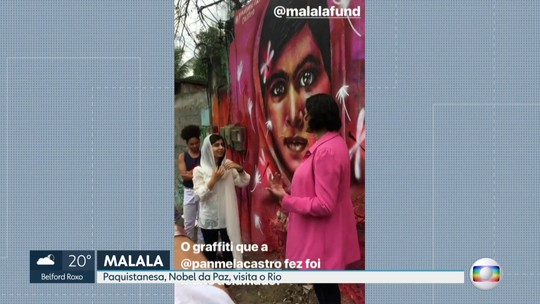 a paquistanesa Malala Yousafzai chegou hoje ao Rio