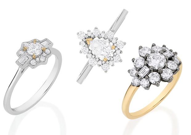 Anéis da linha bridal da Aron & Hirsch (Foto: Divulgação)