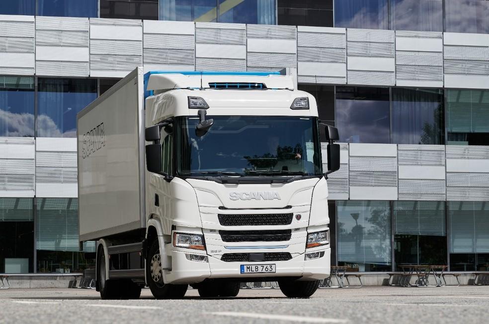 Caminhão elétrico da Scania — Foto: Divulgação
