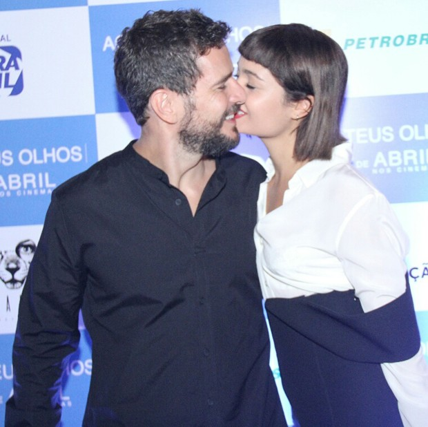 Sophie Charlotte e Daniel de Oliveira (Foto: Wallace Barbosa/AgNews)