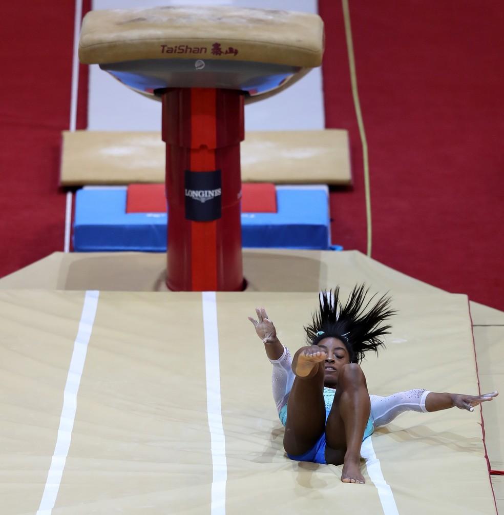 Simone Biles conquista individual geral em Doha. — Foto: Francois Nel/Getty