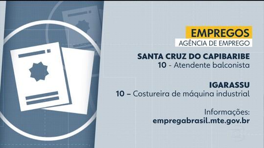 Emprego: Grande Recife e Zona da Mata têm 127 vagas