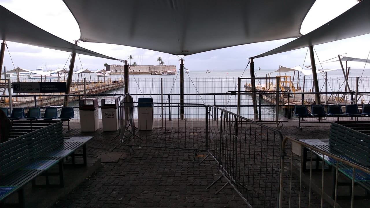 Travessia Salvador-Mar Grande tem últimas viagens suspensas por causa de ventos fortes