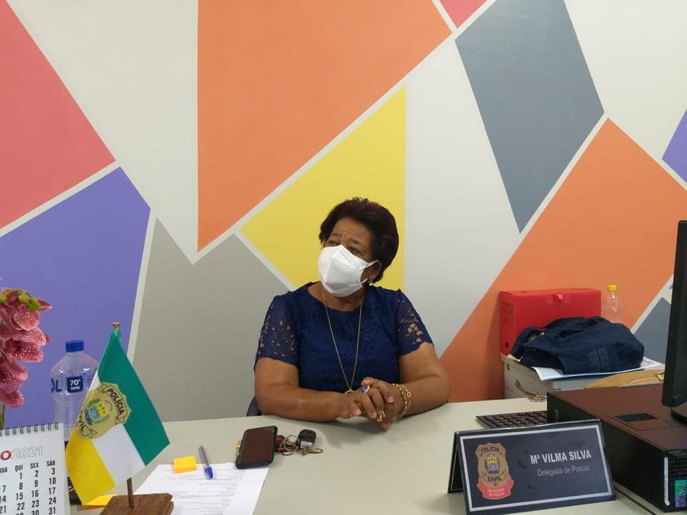 Delegada Vilma Alves, coordenadora da Delegacia de Atendimento à Mulher (Deam) — Foto: Naftaly Nascimento/ G1 PI