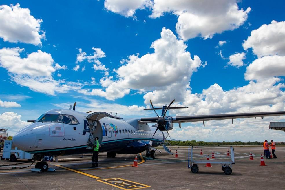 A partir de segunda-feira (10), o aeroporto de Macaé vai voltar a oferecer voos comerciais com destino ao Santos Dumont — Foto: Divulgação/Aeroporto de Macaé