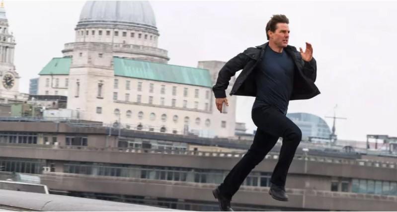 O ator Tom Cruise em cena do filme Missão: Impossível - Fallout (2018) (Foto: Divulgação)