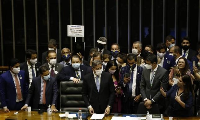 Arthur Lira (PP-AL) no dia em que foi eleito presidente da Câmara: chamado para arbitrar brigas por emendas
