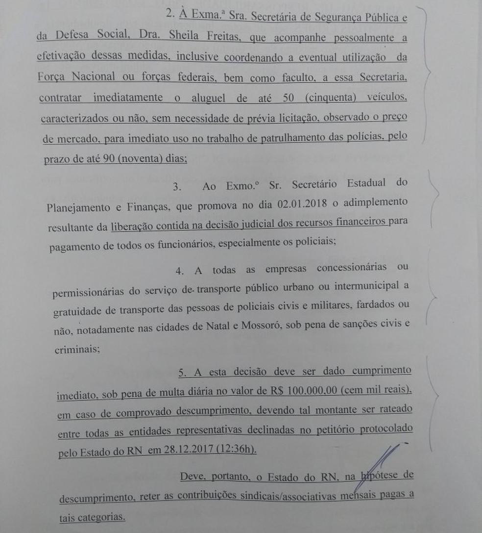Desembargador Cláudio Santos determina multa diária de R$ 100 mil em caso de comprovado descumprimento da decisão  (Foto: Reprodução )