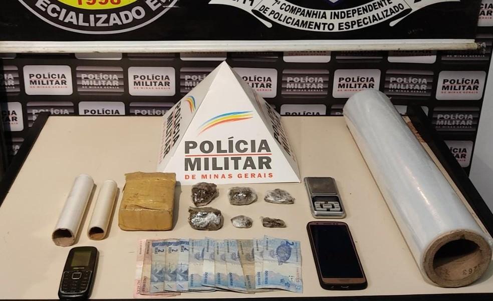 Drogas apreendidas em Divinópolis — Foto: Polícia Militar/Divulgação