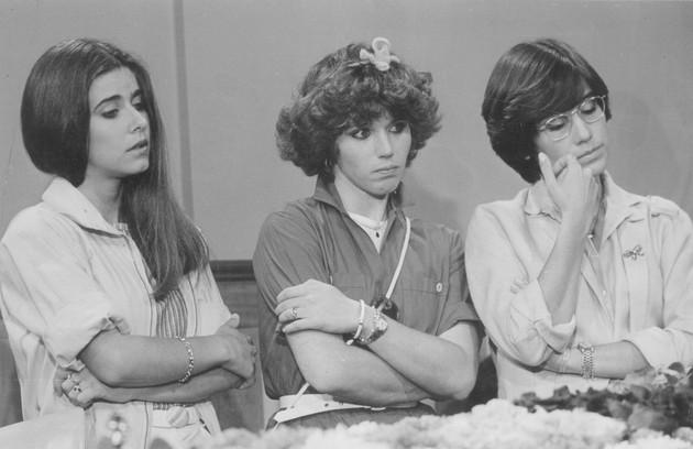 Glória em cena da novela 'As três marias' com Maitê Proença e Nadia Lippi (Foto: Arquivo)