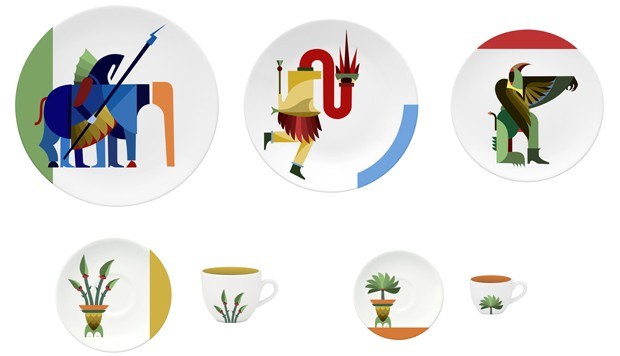 Jovens brasileiros criam coleção de peças de jantar inspirada no folclore (Foto: Divulgação)