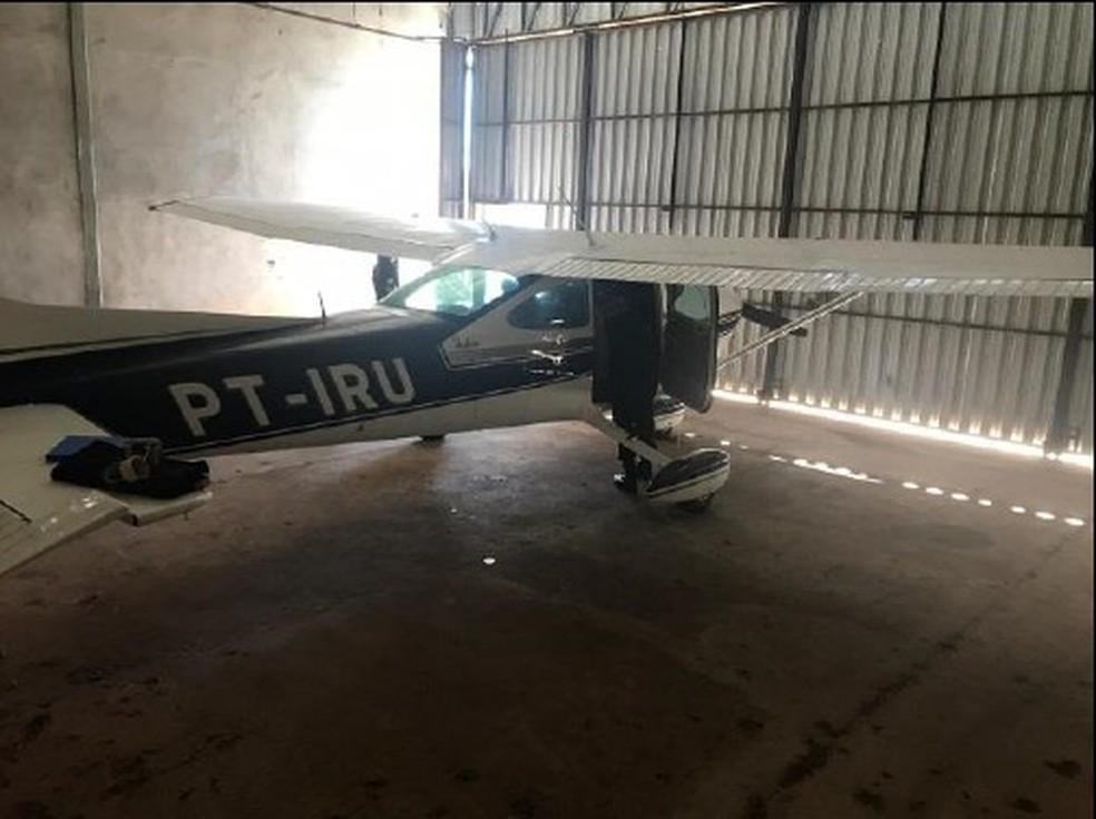 Operação Pedágio apreendeu avião na segunda fase — Foto: PF/Divulgação
