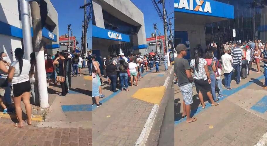 Agência da Caixa em Itapetininga registra fila e aglomeração