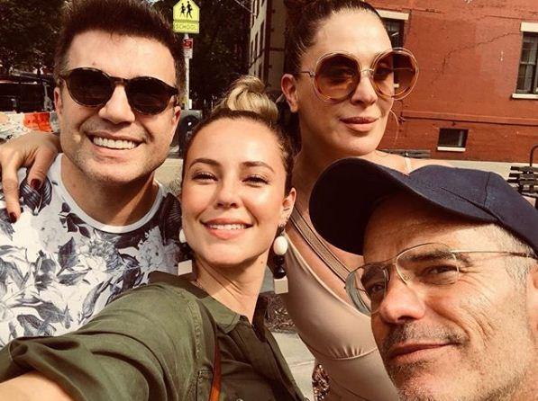 Paola Oliveira, Claudia Raia, Jarbas e Giovanni (Foto: Reprodução Instagram)