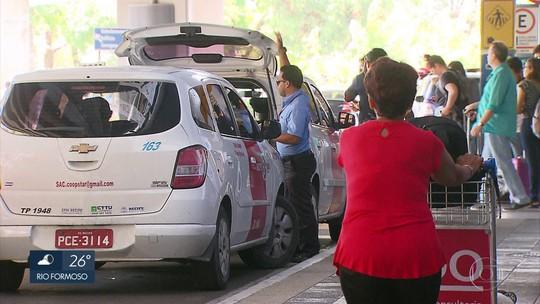 Táxis especiais do Aeroporto do Recife começam a circular também com taxímetro